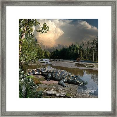 Deinosuchus Framed Print