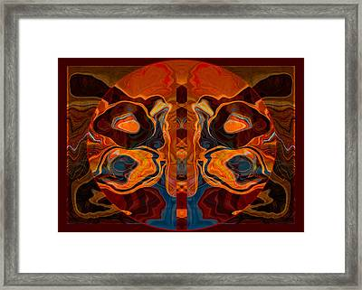 Framed Print featuring the painting Deities Abstract Digital Artwork by Omaste Witkowski