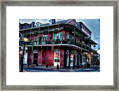 Deja Vu - Bourbon Street Framed Print by Bill Cannon