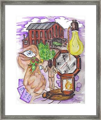 Framed Print featuring the painting Deja Vu by The GYPSY And DEBBIE