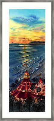 Del Before Sunset Framed Print by John YATO