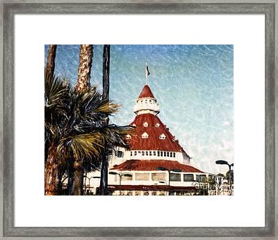 Del Courts Framed Print