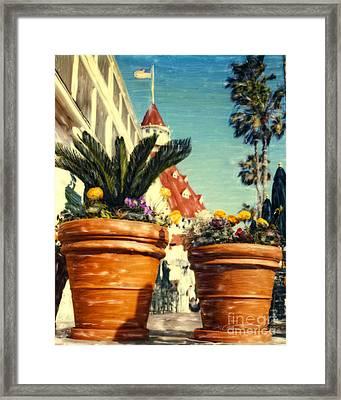 Del Flowers - V Framed Print