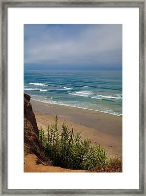 Del Mar Beach Framed Print by April Reppucci