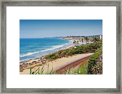 Del Mar Beach California Framed Print