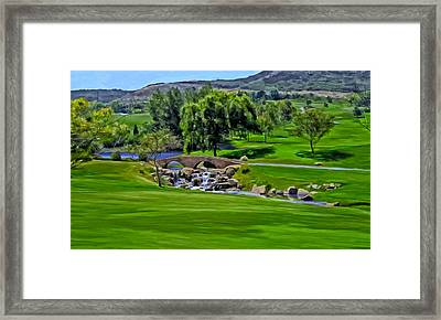 Framed Print featuring the painting Del Mar Country Club by Michael Pickett