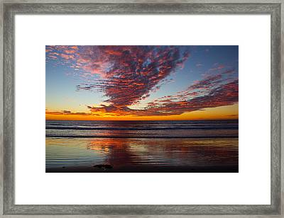 Del Mar Sunset 14 Framed Print