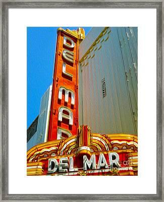 Del Mar Theater - Santa Cruz - 02 Framed Print by Gregory Dyer