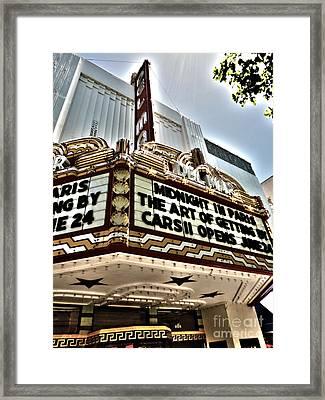 Del Mar Theater - Santa Cruz - 03 Framed Print by Gregory Dyer