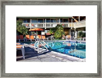Del Marcos Pool Palm Springs Framed Print by William Dey