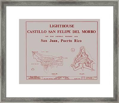 Del Morro Lighthouse - San Juan Puerto Rico Framed Print by Mountain Dreams