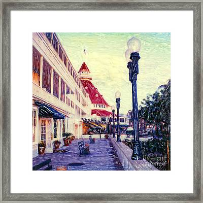 Del Veranda Framed Print