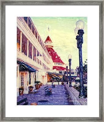 Del Veranda - V Framed Print