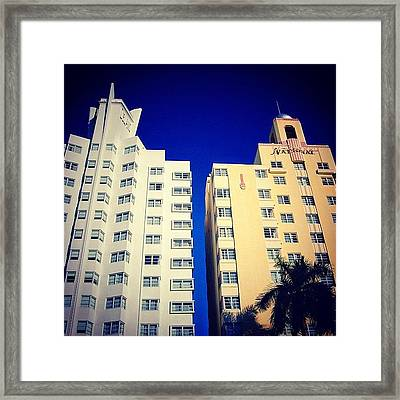 Delano And National Hotel's - Miami ( Framed Print