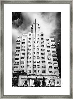Delano Hotel - South Beach - Miami - Florida - Black And White Framed Print