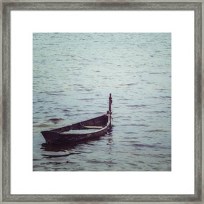 Delapidated Boat Framed Print by Joana Kruse