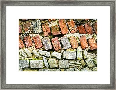 Delapidated Wall Framed Print by Tom Gowanlock