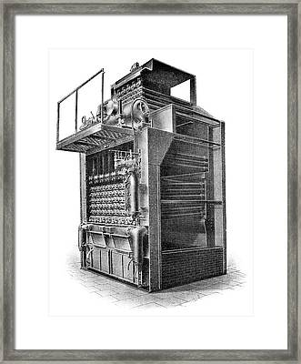 Delaunay-belleville Boiler Framed Print by Science Photo Library