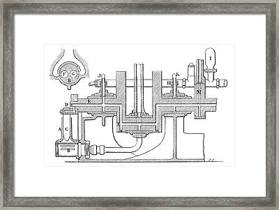 Delaunay-belleville Engine Framed Print by Science Photo Library