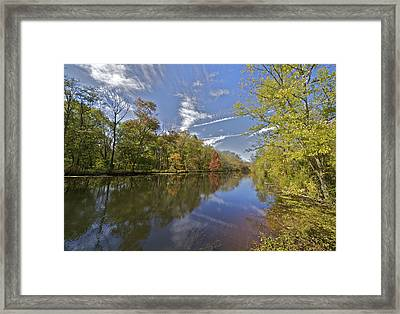 Delaware And Raritan Canal Framed Print