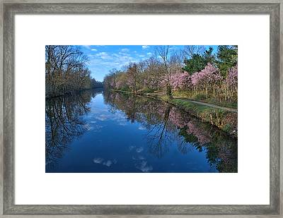 Delaware And Raritan Canal Turning Basim Framed Print