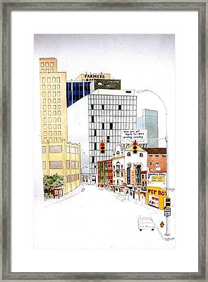 Framed Print featuring the painting Delaware Avenue by William Renzulli