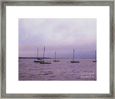 Delaware Harbor Framed Print