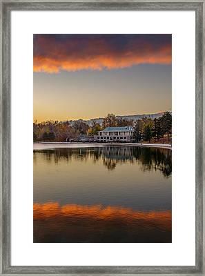 Delaware Park Marcy Casino Autumn Sunrise Framed Print