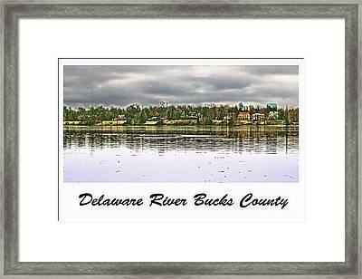 Delaware River Bucks County Framed Print by Tom Gari Gallery-Three-Photography