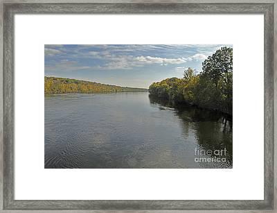 Delaware River In Autumn Framed Print