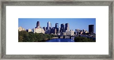 Delaware River, Philadelphia Framed Print