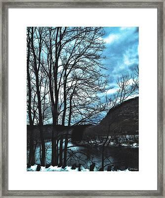 Delaware River Winter Blues Framed Print