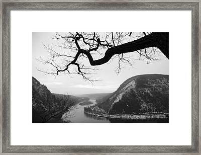Delaware Water Gap In Winter Framed Print