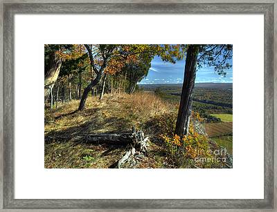 Delaware Water Gap View Framed Print by Nicki McManus