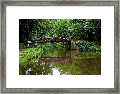 Delaware's Crossing Framed Print by Kathi Isserman