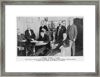 Delegation In London Including  Arthur Framed Print by Mary Evans Picture Library