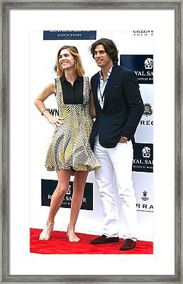 Delfina Blaquier And Nacho Figueras Framed Print