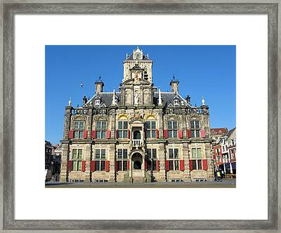 Delft City Hall Framed Print