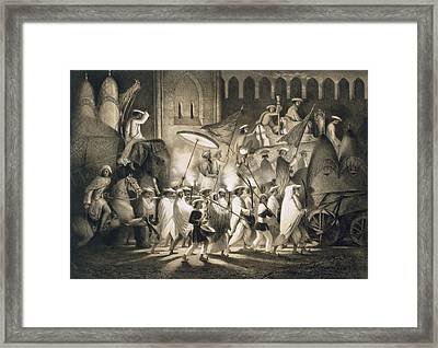 Delhi Cortege And Retinue Of The Great Framed Print by A. Soltykoff