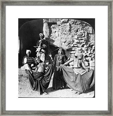 Delhi Dancing Girls Framed Print by Granger