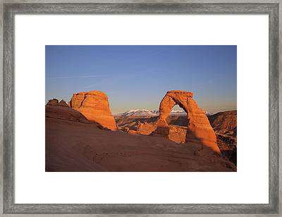Delicate Arch At Sunset-2 Framed Print by Alan Vance Ley