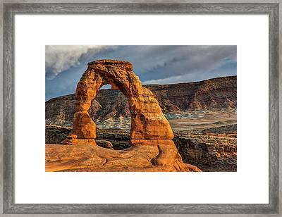 Delicate Arch Framed Print by Jeff Burton