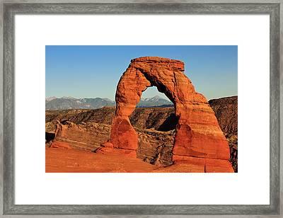Delicate Arch Framed Print by Karma Boyer