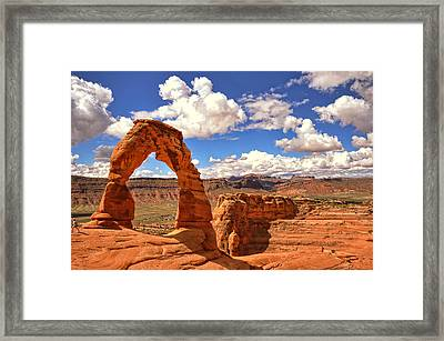 Delicate Arch - Arches National Park - Moab, Utah Framed Print by Kevin Pate