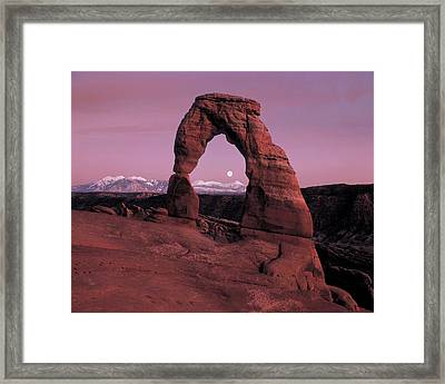 Delicate Arch Framed Print by Leland D Howard