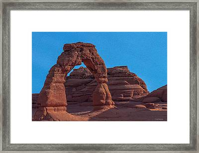 Delicate Arch Framed Print by Tim Bryan