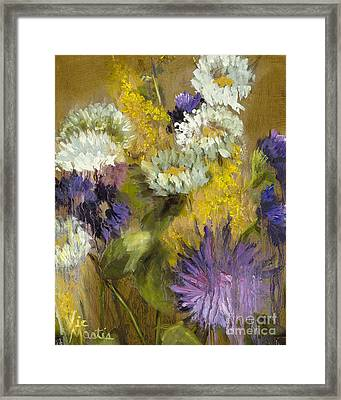 Delicate Aroma I -unframed-with Gold Leaf By Vic Mastis Framed Print
