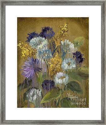 Delicate Aroma II -unfarmed-with Gold Leaf By Vic Mastis Framed Print by Vic  Mastis