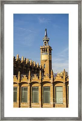 Delicate Blue Tower Framed Print by Deborah Smolinske