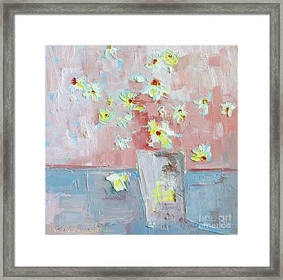 Delicate Daisies Framed Print